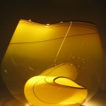 Chihuly yellow glass bowls