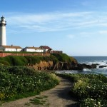 Lighthouse and seagulls