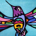 Vibrant hummingbird