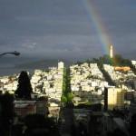 Rainbow over Coit Tower