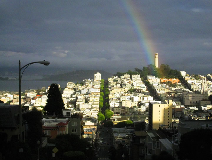 Rainbow over Coit Tower