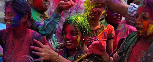 Holi - powder thrown