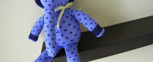 blue polka dotted elephant